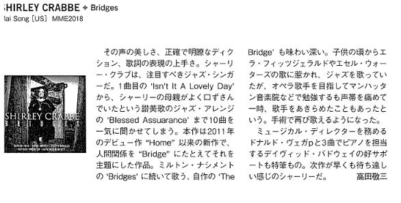 Press Reviews BRIDGES - SHIRLEY CRABBE JAZZ VOCALIST